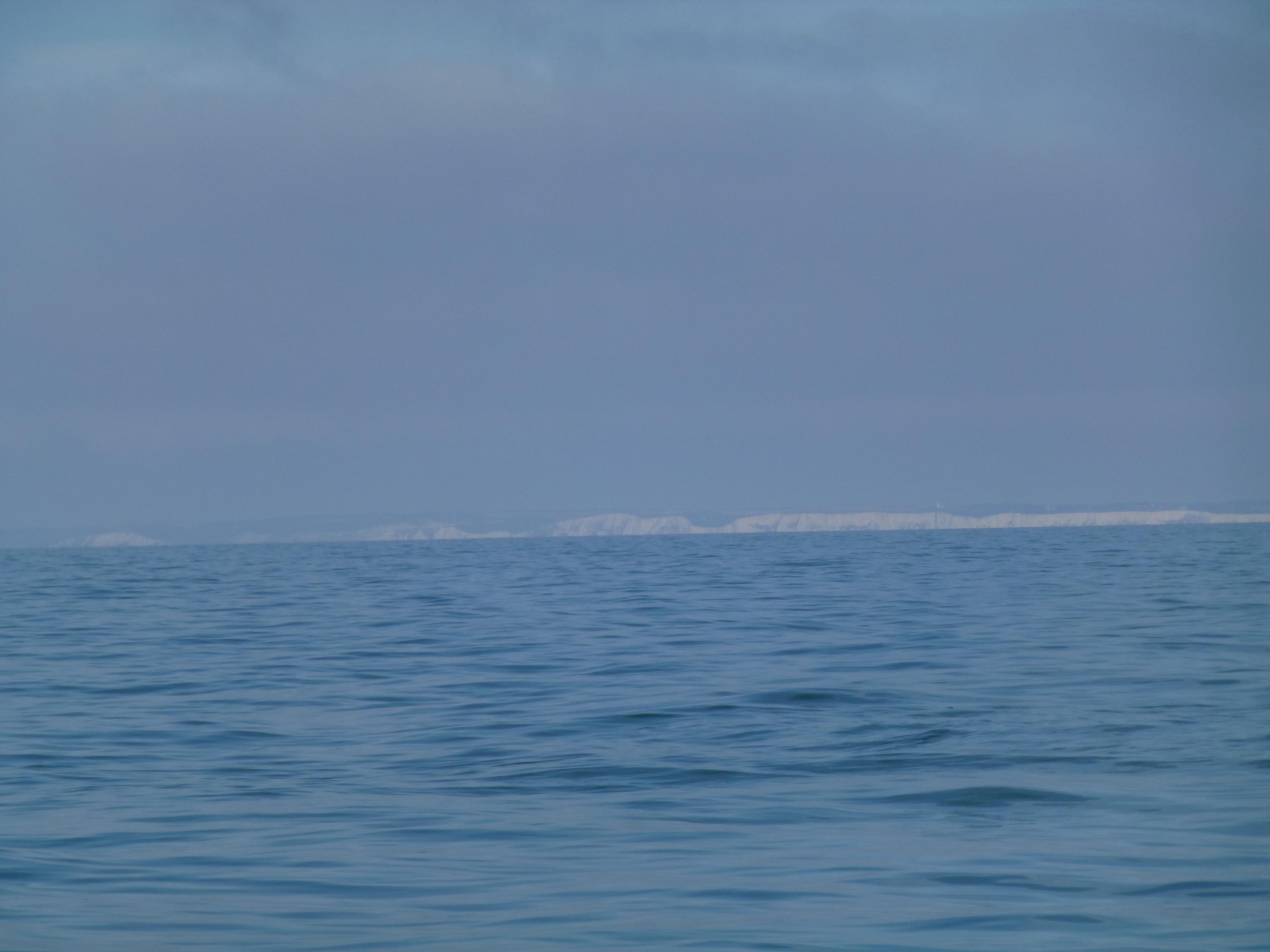 Udsigt til de hvide klipper ved Dover
