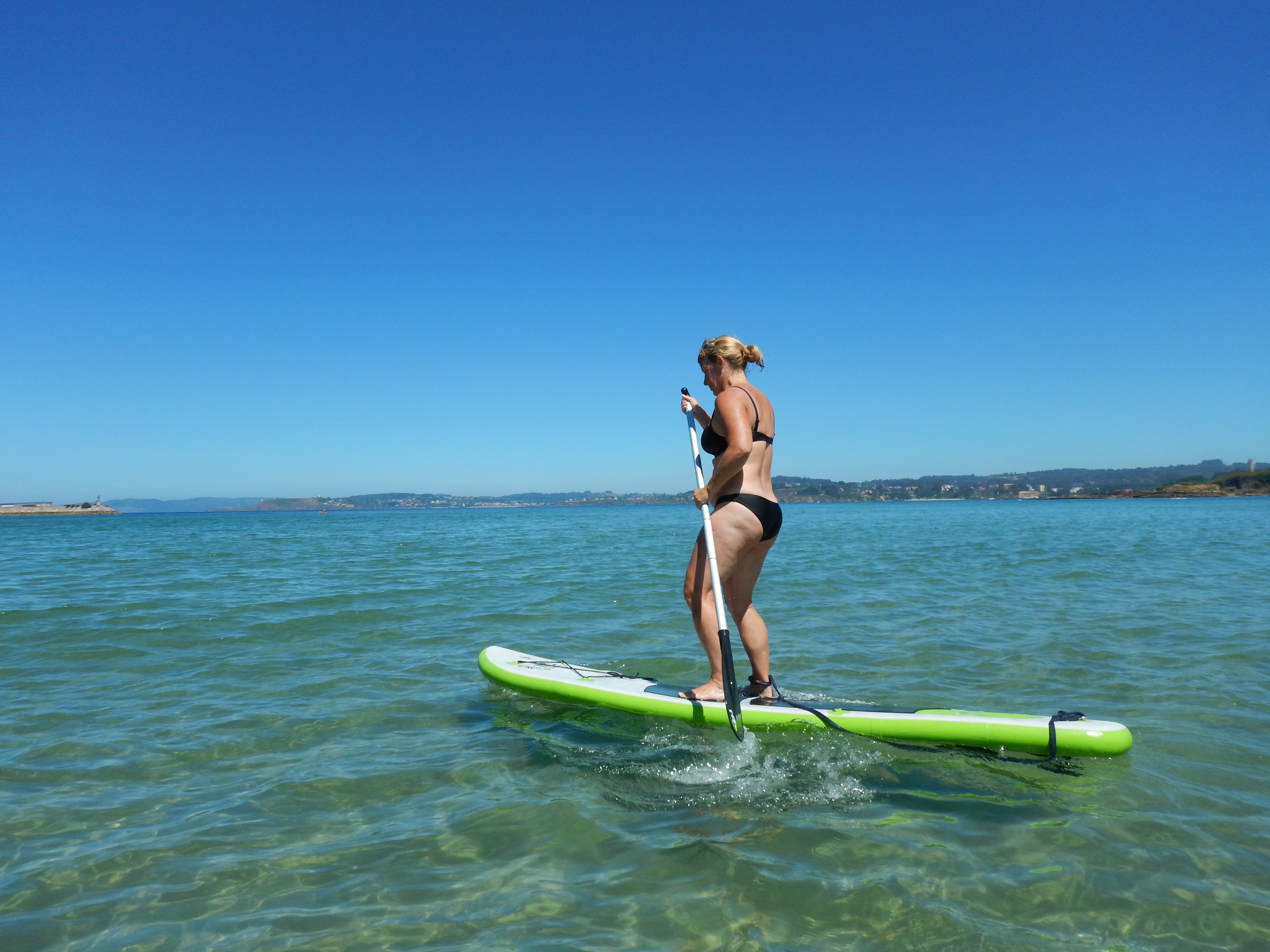 Helle på Paddle board