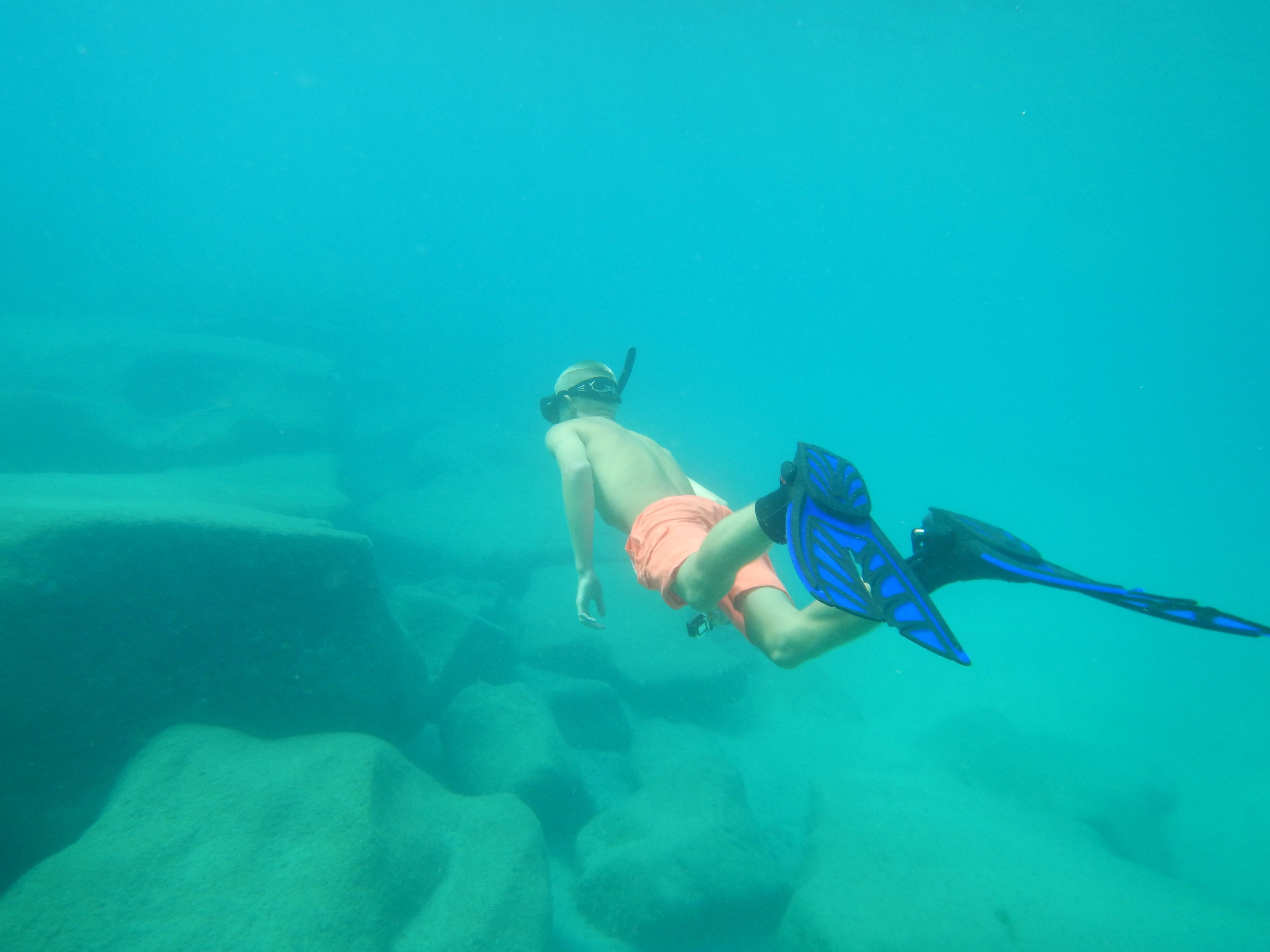 Snorkling ved Papagaya